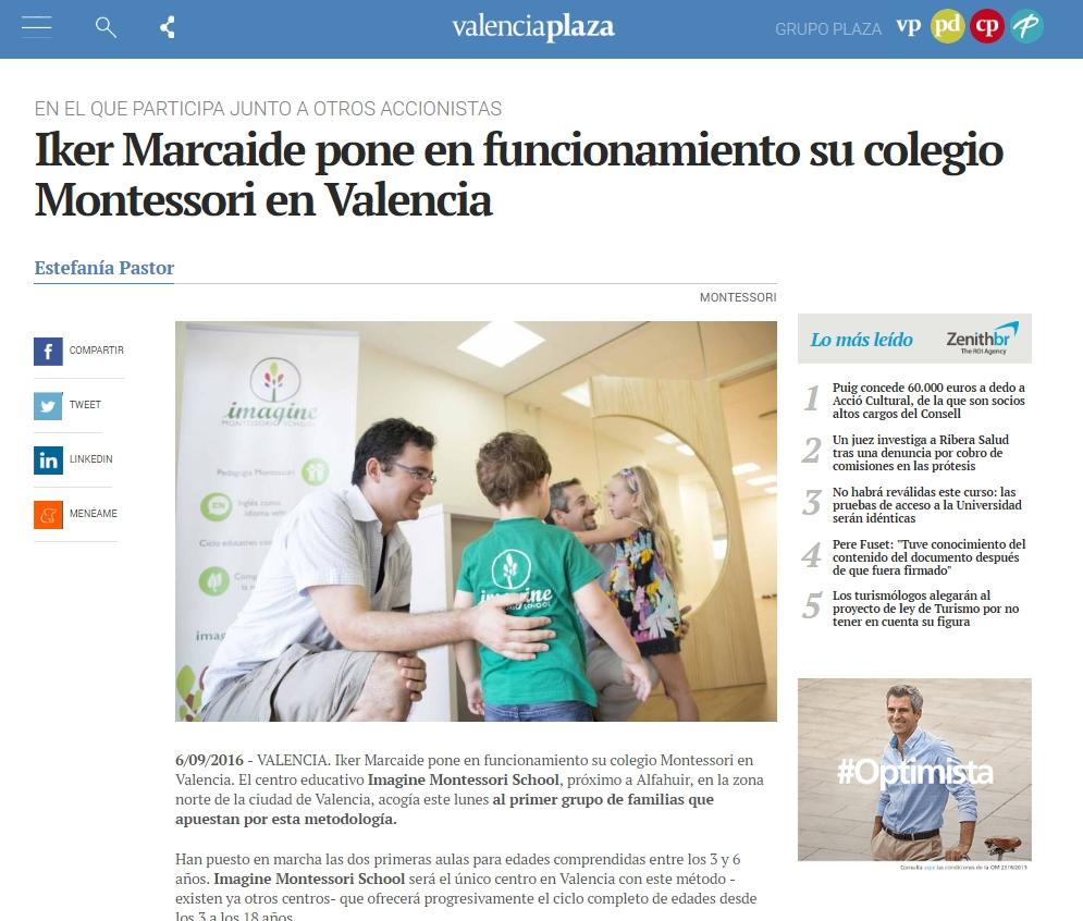 Comienzan las clases en Imagine Montessori School Valencia – Valencia Plaza