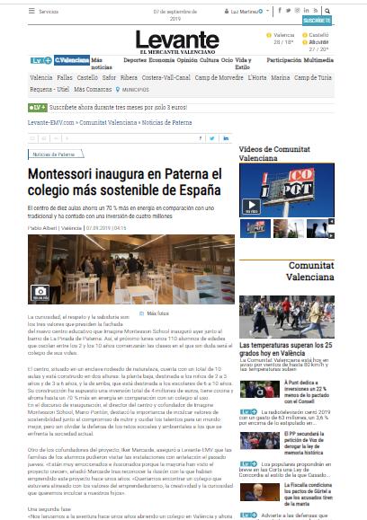 Montessori inaugura en Paterna el colegio más sostenible de España – Levante