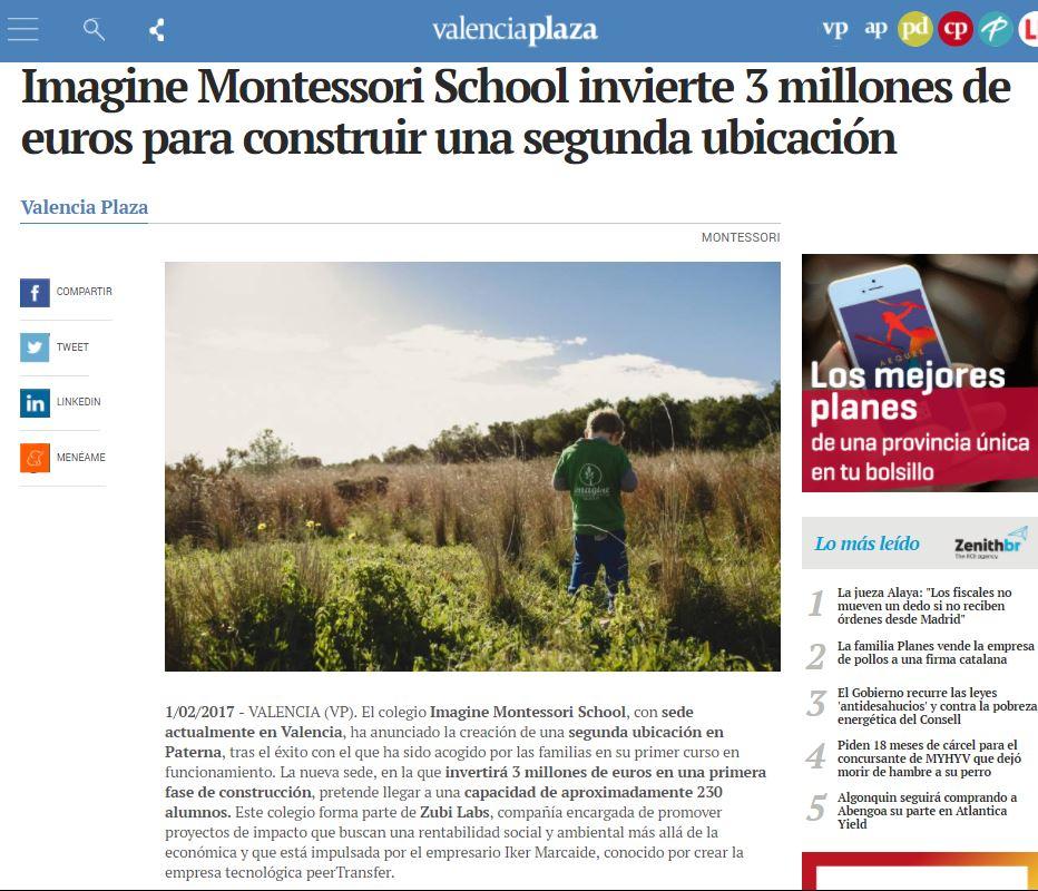 Imagine Montessori School invierte 3 millones de euros para construir una segunda ubicación – Valencia Plaza