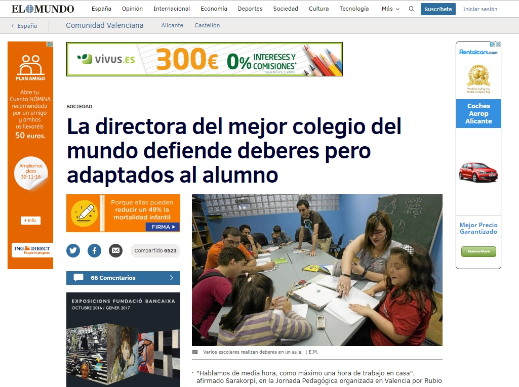 Jornada pedagógica Internacional – El Mundo