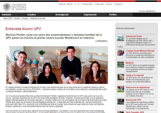 Alumni UPV entrevista a Mariano Pontón – UPV Noticias