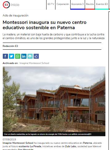 Montessori inaugura su nuevo centro educativo sostenible en Paterna – Economía 3