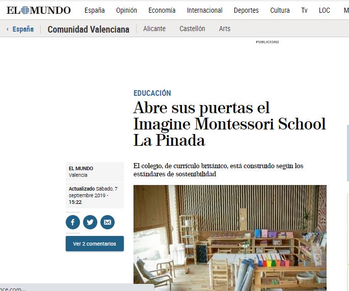 Abre sus puertas el Imagine Montessori School La Pinada – El Mundo