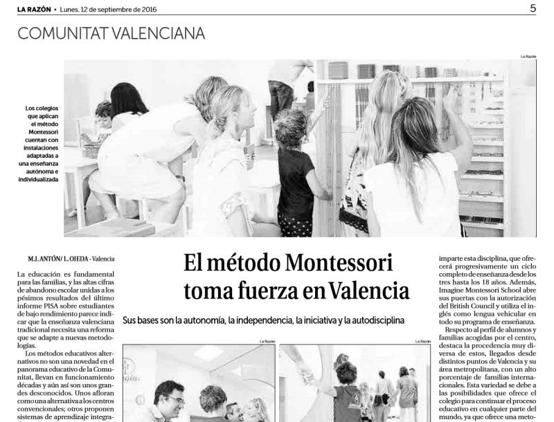 El método Montessori toma fuerza en Valencia – La Razón