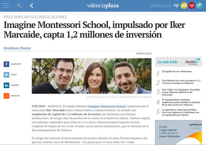 Imagine Montessori School capta 1,2 millones de inversión